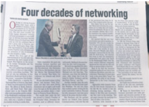 Four decades of networking